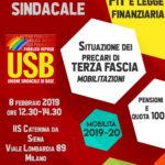 Locandina assemblea milano 8 febbraio 19